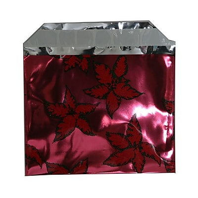 JAM Paper® Foil Envelopes with Self Adhesive Closure, 5 x 6 1/8, Booklet, Red, 100/pack (21326676B)