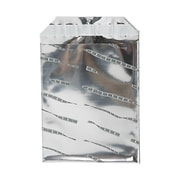 JAM Paper® Foil Envelopes with Self Adhesive Closure, 6 1/4 x 7 7/8, Open End, Silver Film Design, 100/pack (01323281B)