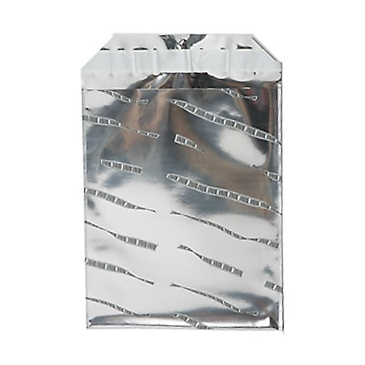 JAM Paper® 6.25 x 7.875 Open End Foil Envelopes with Self-Adhesive Closure, Silver Film Design, 25/Pack (1323281)