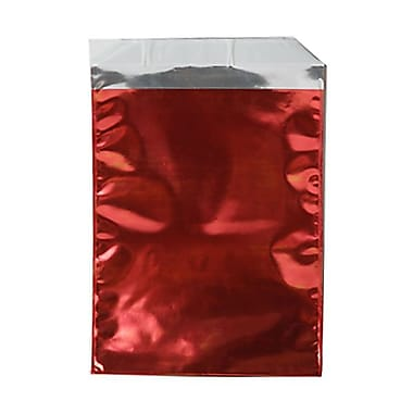 JAM Paper® Foil Envelopes with Self Adhesive Closure, 6.25 x 7.88, Open End, Red, 25/Pack (1323272)