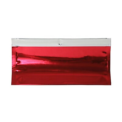 JAM Paper® #10 Foil Envelopes with Self Adhesive Closure, 4 1/8 x 9 1/2, Red, 100/pack (01323307B)