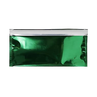 JAM Paper #10 Foil Envelopes with Self Adhesive Closure, 4 1/8 x 9.5, Green, 100/Pack (01323308B)