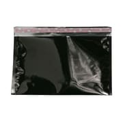 JAM Paper® Foil Envelopes with Self Adhesive Closure, 6 1/8 x 9 1/2, Booklet, Black 100/pack (01323282B)