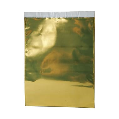 JAM Paper® Foil Envelopes with Self Adhesive Closure, 10 x 13, Open End, Gold, 100/Pack (0132355B)