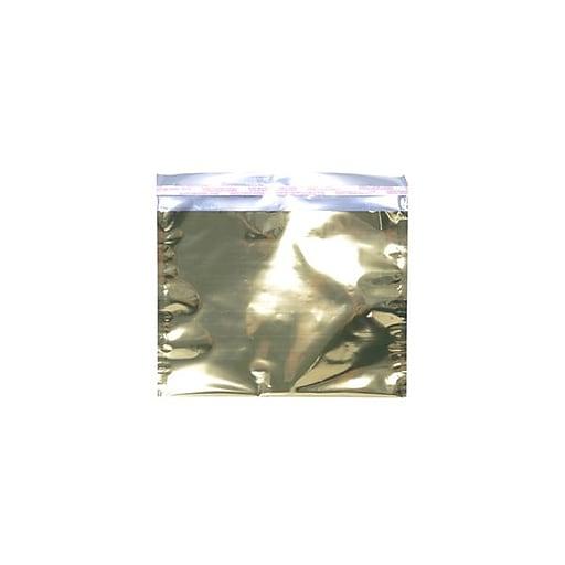 JAM Paper® 9.5 x 12 Booklet Foil Envelopes with Self-Adhesive Closure, Gold, 100/Pack (01325661B)