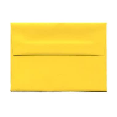 JAM Paper® 4bar A1 Envelopes, 3.63 x 5 1/8, Brite Hue Yellow Recycled, 1000/Pack (15801B)