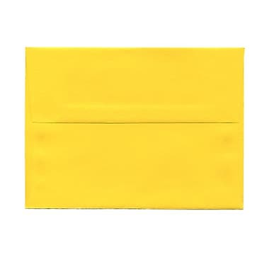 JAM Paper® A6 Invitation Envelopes, 4.75 x 6.5, Brite Hue Yellow Recycled, 100/Pack (94531g)
