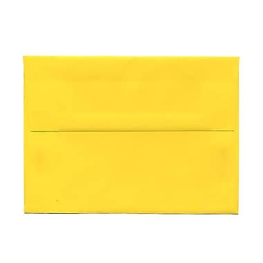 JAM Paper® A7 Invitation Envelopes, 5.25 x 7.25, Brite Hue Yellow Recycled, 1000/Pack (96326B)