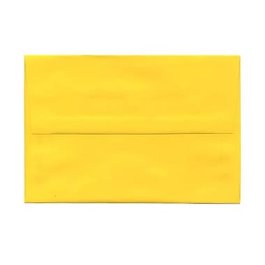 JAM Paper® A8 Invitation Envelopes, 5.5 x 8.125, Brite Hue Yellow Recycled, 100/Pack (96334g)