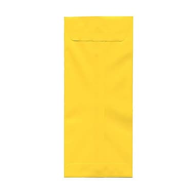 JAM Paper #14 Policy Envelopes, 5 x 11.5, Brite Hue Yellow Recycled, 1000/Pack (3156404B)
