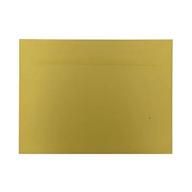 JAM Paper® 9 x 12 Booklet Envelopes, Brite Hue, Yellow Recycled, 100/Pack (5156775g)
