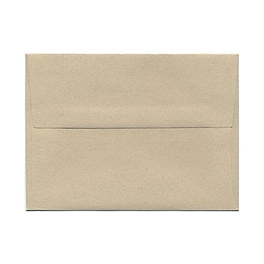 JAM Paper® A6 Invitation Envelopes, 4.75 x 6.5, Sandstone Ivory Recycled, 100/Pack (71201g)