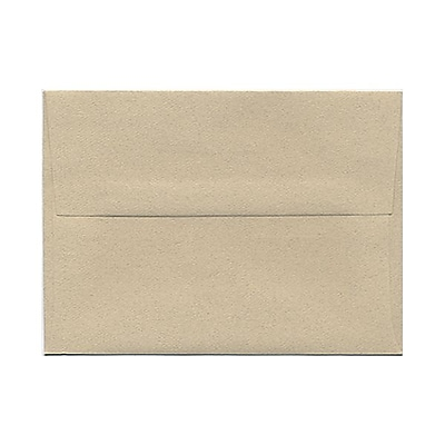 JAM Paper® A6 Invitation Envelopes, 4.75 x 6.5, Sandstone Ivory Recycled, 25/pack (71201)
