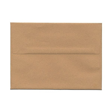 JAM Paper A7 Invitation Envelopes, 5.25 x 7.25, Ginger Brown Recycled, 100/Pack (34856g)