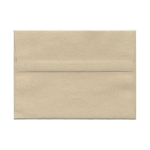 JAM Paper® A7 Passport Invitation Envelopes, 5.25 x 7.25, Sandstone Brown Recycled, 25/Pack (41403)