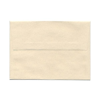 JAM Paper® A7 Invitation Envelopes, 5.25 x 7.25, Gypsum Ivory Recycled, 100/Pack (CPPT703g)