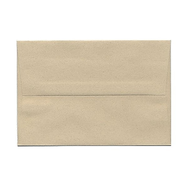JAM Paper® A8 Invitation Envelopes, 5.5 x 8.125, Sandstone Ivory Recycled, 100/Pack (83728g)