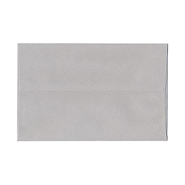 JAM Paper® A10 Invitation Envelopes, 6 x 9.5, Granite Grey Recycled, 100/Pack (2831490g)