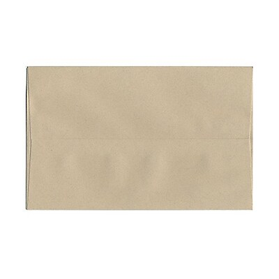 JAM Paper® A10 Invitation Envelopes, 6 x 9.5, Sandstone Ivory Recycled, 1000/carton (83736B)