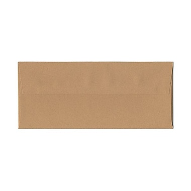 JAM Paper® #10 Business Envelopes, 4 1/8 x 9.5, Ginger Brown Recycled, 1000/Pack (02831513B)