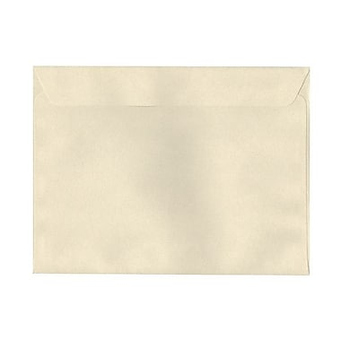 JAM Paper® 9 1/2 x 12 5/8 Booklet Envelopes, Gypsum Ivory Recycled, 25/pack (900878720)