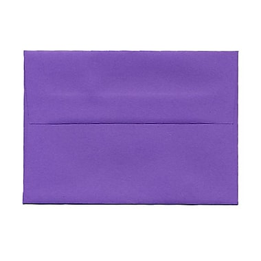 JAM Paper® 4bar A1 Envelopes, 3.63 x 5 1/8, Brite Hue Violet Purple Recycled, 100/Pack (15815g)