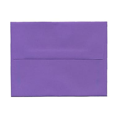 JAM Paper® A2 Invitation Envelopes, 4.38 x 5.75, Brite Hue Violet Purple Recycled, 100/Pack (80252g)