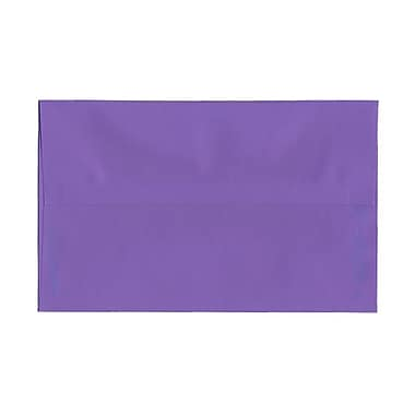 JAM Paper® A10 Invitation Envelopes, 6 x 9.5, Brite Hue Violet Purple Recycled, 1000/Pack (28036B)