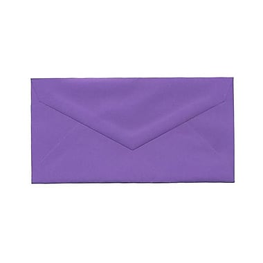JAM Paper® Monarch Envelopes, 3.88 x 7.5, Violet Purple Recycled, 100/Pack (34097581g)