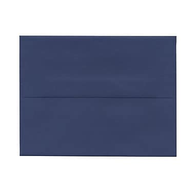 JAM Paper® A2 Invitation Envelopes, 4.38 x 5.75, Presidential Blue, 100/Pack (563913396g)