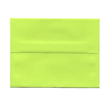 JAM Paper® 4bar A1 Envelopes, 3.63 x 5 1/8, Brite Hue Ultra Lime Green, 100/Pack (155438g)