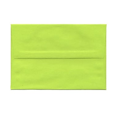 JAM Paper® A8 Invitation Envelopes, 5.5 x 8.125, Brite Hue Ultra Lime Green, 100/Pack (15955g)
