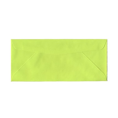 JAM Paper® #10 Business Envelopes, 4 1/8 x 9.5, Brite Hue Ultra Lime Green, 100/Pack (71091g)