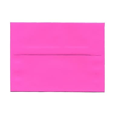 JAM Paper® A6 Invitation Envelopes, 4.75 x 6.5, Brite Hue Ultra Fuchsia Pink, 100/Pack (60574g)