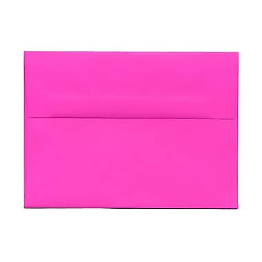 JAM Paper® A7 Invitation Envelopes, 5.25 x 7.25, Brite Hue Ultra Fuchsia Pink, 1000/Pack (15916B)