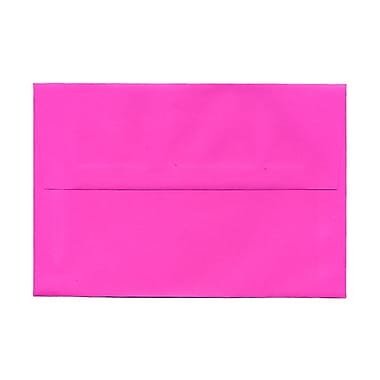 JAM Paper® A8 Invitation Envelopes, 5.5 x 8.125, Brite Hue Ultra Fuchsia Pink, 100/Pack (58447g)