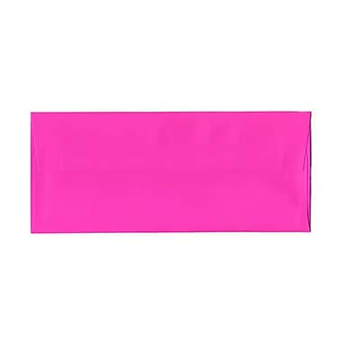 JAM Paper #10 Business Envelopes, 4 1/8 x 9.5, Brite Hue Ultra Fuchsia Pink, 1000/Pack (15847B)