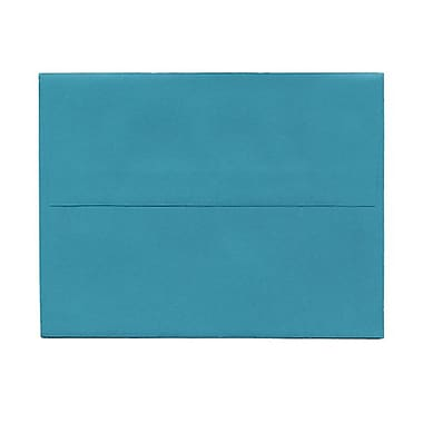 JAM Paper® 4bar A1 Envelopes, 3.63 x 5 1/8, Brite Hue Sea Blue Recycled, 100/Pack (15794g)