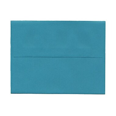 JAM Paper® A2 Invitation Envelopes, 4.38 x 5.75, Brite Hue Sea Blue Recycled, 1000/Pack (70207B)