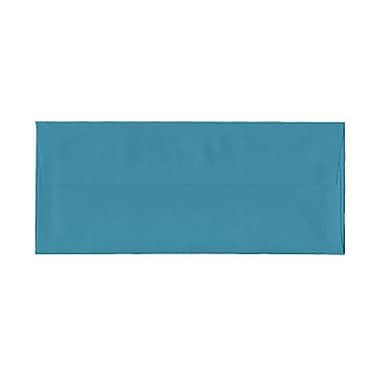 JAM Paper® #10 Business Envelopes, 4 1/8 x 9.5, Brite Hue Sea Blue Recycled, 100/Pack (15858g)
