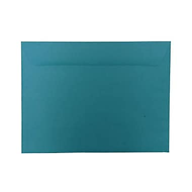 JAM Paper® 9 x 12 Booklet Envelopes, Brite Hue Sea Blue Recycled, 100/Pack (5156773g)