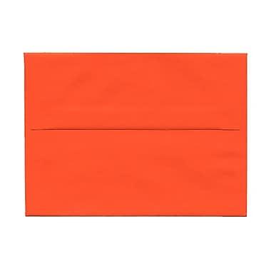 JAM PaperMD – Enveloppes pour invitations en pap. recyclé de couleur vive, ferm. gommée, 4 3/4 x 6 1/2 po, orange, paq./100