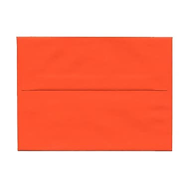 JAM Paper® A6 Invitation Envelopes, 4.75 x 6.5, Brite Hue Orange Recycled, 100/Pack (15905g)