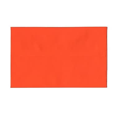 JAM Paper® A10 Invitation Envelopes, 6 x 9.5, Brite Hue Orange Recycled, 100/Pack (95922g)