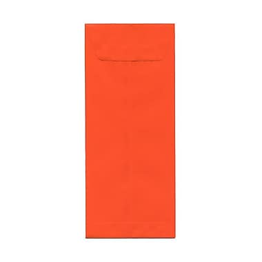 JAM Paper #12 Policy Envelopes, 4.75 x 11, Brite Hue Orange Recycled, 100/Pack (3156399g)