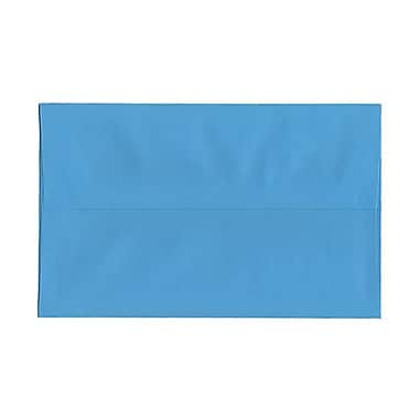 JAM Paper® A10 Invitation Envelopes, 6 x 9.5, Brite Hue Blue Recycled, 100/Pack (95443g)