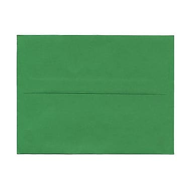 JAM Paper® A2 Invitation Envelopes, 4.38 x 5.75, Brite Hue Green Recycled, 100/Pack (15843g)