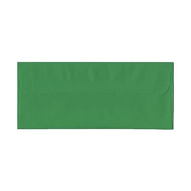 JAM Paper® #10 Business Envelopes, 4 1/8 x 9.5, Brite Hue Green Recycled, 100/Pack (15862g)