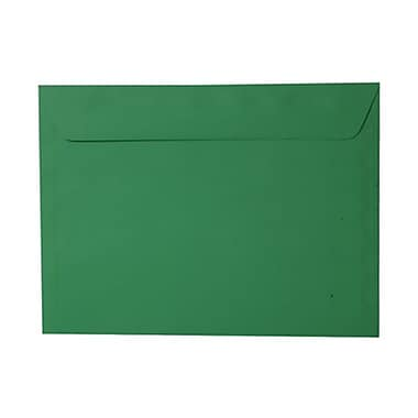 JAM Paper® 9 x 12 Booklet Envelopes, Brite Hue Christmas Green Recycled, 1000/Pack (154124B)