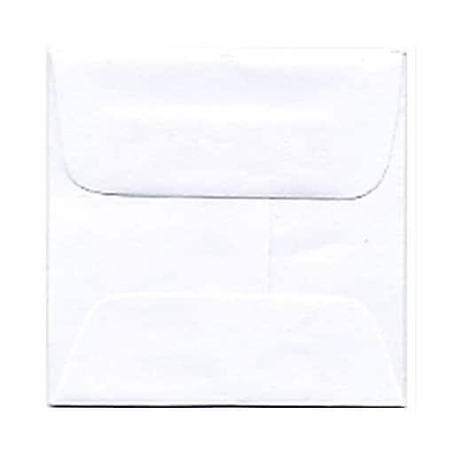 JAM Paper® 2.375 x 2.375 Mini Square Envelopes, White, Bulk 1000/Carton (03993004C)